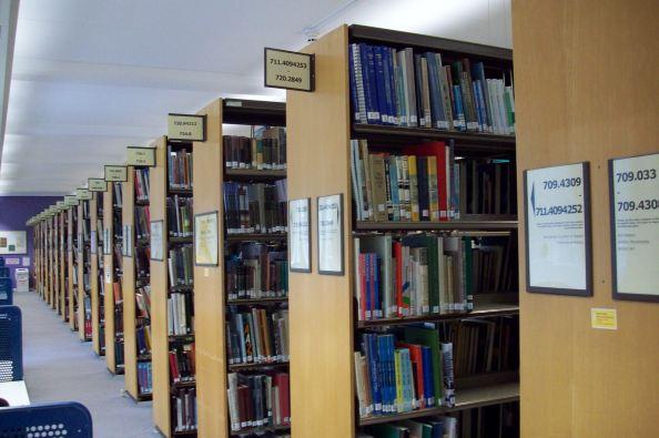 Shelves of Art Books