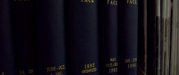 Bound Copies of The Face Magazines