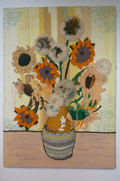Knitted Sunflowers
